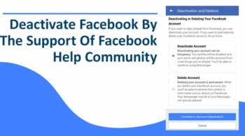 Deactivate Facebook By The Support Of Facebook Help Community